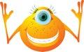 Cartoon creature, animated Royalty Free Stock Photo