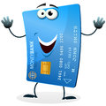 Cartoon Credit Card Character Royalty Free Stock Image