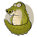 Cartoon crocodile funny illustration of a Royalty Free Stock Image
