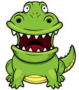 Cartoon crocodile vector illustration of Royalty Free Stock Photo