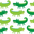 Cartoon crocodiles seamless pattern Stock Photography