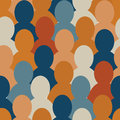 Cartoon crowd Royalty Free Stock Photo