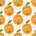 Cartoon Cute Apricot Seamless Pattern