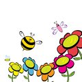 Cartoon cute bright baby bee vector illustration icon Stock Photography