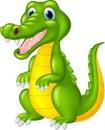Cartoon cute crocodile