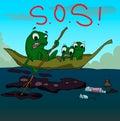 Cartoon cute frog Royalty Free Stock Photo