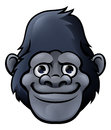 Cartoon Cute Gorilla Face Royalty Free Stock Photo