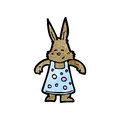 Cartoon cute little rabbit Stock Photos