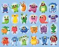 Cartoon cute monsters illustration picture for your design Royalty Free Stock Image