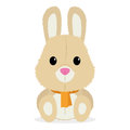Cartoon cute rabbit isolated on white background vector Royalty Free Stock Photos
