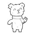 Cartoon cute teddy bear black and white line in retro style vector available Royalty Free Stock Images