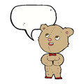 cartoon cute teddy bear with speech bubble