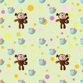 Cartoon cute toy baby monkey