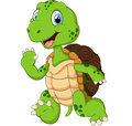 Cartoon cute turtle waving hand illustration of Royalty Free Stock Photo
