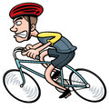 Cartoon cyclist vector illustration of Royalty Free Stock Photography