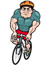 Cartoon cyclist vector illustration of Stock Photo
