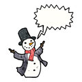 Cartoon dancing snowman Stock Photography