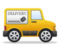 Cartoon Delivery Van Stock Image
