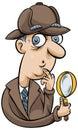 Cartoon Detective Royalty Free Stock Photo