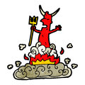 Cartoon devil Royalty Free Stock Photos