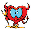 Cartoon devil heart Stock Image