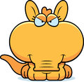 Cartoon devious aardvark a illustration of a little with a expression Stock Images
