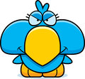 Cartoon devious blue bird a illustration of a little with a expression Royalty Free Stock Photography