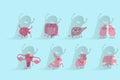 Cartoon different organ