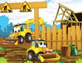 The cartoon digger illustration for the children happy and colorful Royalty Free Stock Images
