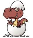 Cartoon Dinosaur baby Royalty Free Stock Photo