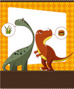 Cartoon dinosaur card Royalty Free Stock Photo