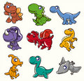 Cartoon dinosaur icon Royalty Free Stock Photo