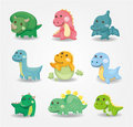 Cartoon dinosaur icon Royalty Free Stock Photo
