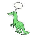cartoon dinosaur with thought bubble Royalty Free Stock Photo
