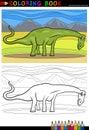 Cartoon Diplodocus Dinosaur Co...