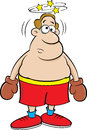 Cartoon dizzy boxer. Royalty Free Stock Photo