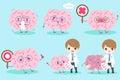 Cartoon doctor with brain