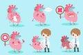Cartoon doctor with heart