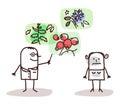 Cartoon Doctor And Plants Medi...