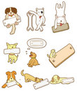 Cartoon dog board icon Stock Image