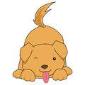 Cartoon dog image of a cute simple Stock Images