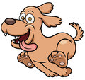 Cartoon dog running vector illustration of Stock Photography