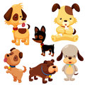 Cartoon dog set Stock Photo