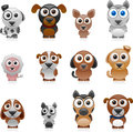 Cartoon dog set vector illustration of separate layers for easy editing Royalty Free Stock Photos