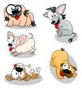 Cartoon dogs Royalty Free Stock Photos