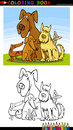 Cartoon Dogs for Coloring Book or Page Royalty Free Stock Photography