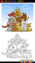 Cartoon Dogs for Coloring Book or Page Royalty Free Stock Photo