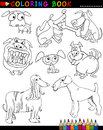Cartoon Dogs for Coloring Book or Page Stock Photography