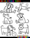 Cartoon Dogs for Coloring Book or Page Royalty Free Stock Photos