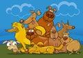 Cartoon dogs group Royalty Free Stock Photo